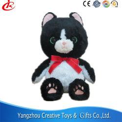 異なったデザインおよびカラーの詰められた詰められたプラシ天の赤ん坊のおもちゃの黒猫