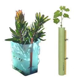 La Guardia de la planta de plástico Twinwall hueco para las flores y árboles