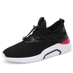 Loopschoenen maken-in-China die de Loopschoenen van de Sport van de Tennisschoen van de Mensen van het Flirt voor de Loopschoenen van Mensen en van Dames breien
