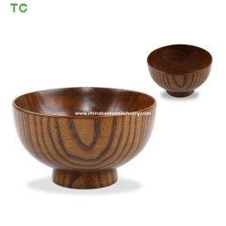 Ciotola di legno del servizio della ciotola di insalata della ciotola di minestra del miso della giuggiola