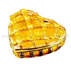 OEM металлические золотые ювелирные изделия Heart-Shaped Artware практических подарочные коробки
