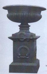 Runder Roheisen-Blumen-Potenziometer mit Unterseite für Park-Dekoration