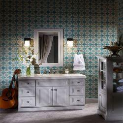 Commerce de gros de style américain de la vanité du Cabinet de la salle de bains en bois massif