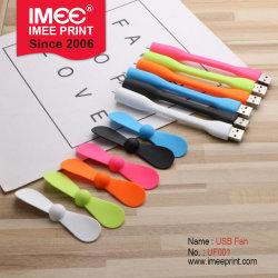 Imee en stock y batería recargable del portátil personalizada flexible plegada de bolsillo los viajes de Promoción Exterior de Material de oficina Regalo Promocional Regalos Mini Ventilador USB