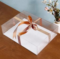 Contenitori trasparenti liberi di cioccolato della caramella dei monili del PVC del contenitore di regalo di cerimonia nuziale