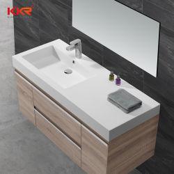 Lavabo di pietra della mano del dispersore della stanza da bagno di Corian degli articoli sanitari per vanità del Governo (B200109)