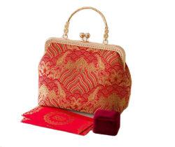 Le style chinois en soie mariage robes de mariée demoiselle d'honneur un sac à main pour la femme