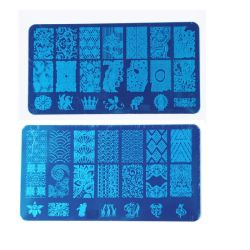 Nail Art Stamping Manucure Les plaques d'outils d'ongles
