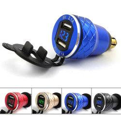 Voor BMW-motorfietsen: Voltmeter voor DIN naar dubbele USB-aansluiting Oplader voor mobiele telefoon