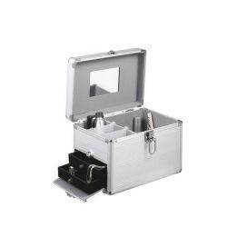 Beauté cosmétiques en acrylique transparent boîte avec le profilé en aluminium (HB-2016)