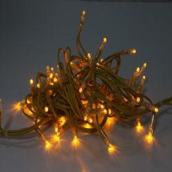 String Chaîne de lumière avec des feux de 100 LED noir/blanc clair/ Tube rétractable PVC