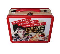 Rechteckiger Mittagessen-Zinn-Kasten mit Griff