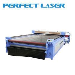 Grande Sacle 80W 120W 150W / tecido macio / produtos têxteis laser de CO2 com o corte do alimentador automático