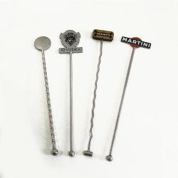 Корпус из нержавеющей стали для приготовления кофе напиток Stirrers перемешайте Коктейль Swizzle Memory Stick металлические смеситель