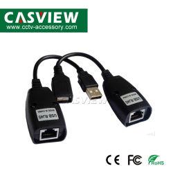 Extensor RJ45 USB cabo LAN 2PCS cabo adaptador de extensão USB do computador até 150FT usando cabo Cat5 cabo RJ45 da LAN