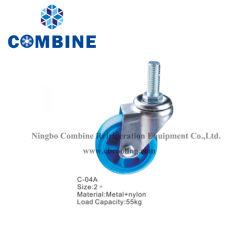 congélateur coffre commercial de la roue en nylon