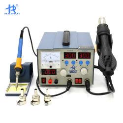 HAIRUI 863D 3en1 Fuente de alimentación de aire caliente Digital de soldadura sin plomo de rectificación de la Herramienta de soldadura SMD