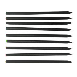 Crystal Diamond Black Bleistift, Geschärft Black Wood Bleistift Hb, Werbegeschenk Bling Bling Bleistift