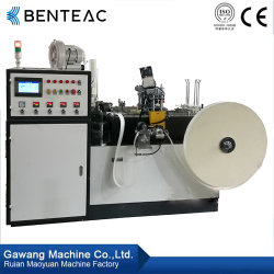 Multifunktions50-60 PC/Min, welches doppeltes und einzelnes PET das überzogene Papiercup bildet Maschine heißsiegelt