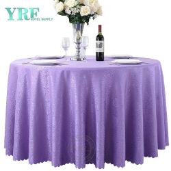Linge de table en gros 132 pouces violet Chiffon de la Table ronde
