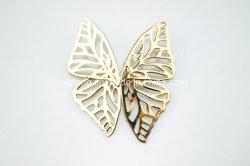 Бабочка форму уха шпилька с золотой пластиной сплава Earring скрытых полостей