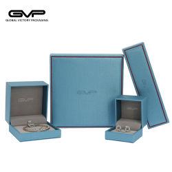 Le lac bleu cuir synthétique Retro boîte à bijoux définit avec une haute qualité