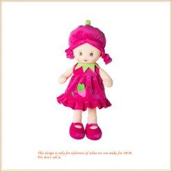 Bambola farcita del giocattolo del bambino farcita ragazza bella delle bambole della frutta