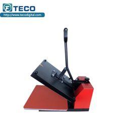 На экране цифровой планшет футболка тепла нажмите кнопку Печать с термической возгонкой машины для ПЭТ-пленку передачи