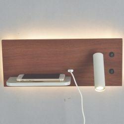 Porta USB do carregador sem fio 5V 2.1A com LED de leitura de Luz de Fundo para o leito