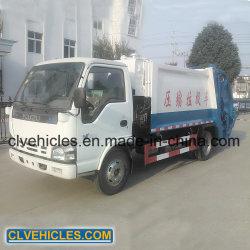 Il camion/polvere del costipatore dell'immondizia di Isuzu 6000L raccoglie il camion per lo spreco della costruzione