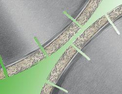 Bord de la lame de scie circulaire de ventilateur vitesse Cutting-High lame de diamant pour le Granite