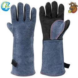 Segurança de alta qualidade em pele Industrial o trabalho de soldagem luva com suporte de couro