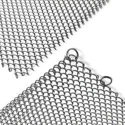 Espiral de metal de cortinas para Hotel chimenea techo cortinas de malla metálica