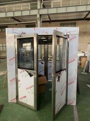 Acquazzone di aria su ordinazione del carico dell'acciaio inossidabile per il funzionamento automatico completo della stanza pulita con l'ugello dal lato una parte superiore