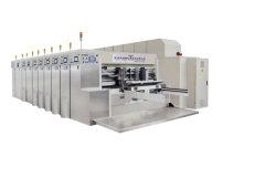 6가지 색상의 첨단 진공 이송 고품질 Flexographic Flexo 인쇄 슬로팅 다이 절단 카톤 메이킹 기계