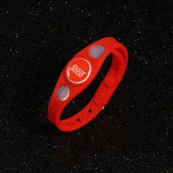 تصميم مخصص لوطارك الخاص بالطاقة الأيون Silicone PVC USB سوار معصم من السيليكون Power Balance الحساس للأشعة فوق البنفسجية