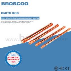 Preço Copperlagem revestido Aço cobre Bonded terra vara para Material do sistema de ligação à terra