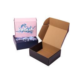 Fabricant de haute qualité à bon marché personnalisé couleur Impression recto-verso le Carton Ondulé beauté Boîte cadeau à l'emballage carton Mailer boîte avec le logo d'expédition