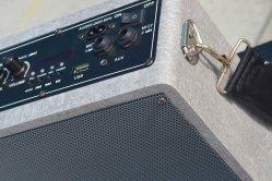 """Cine en casa de 6.5"""" de sonido Hi-Fi mini armario de madera de ordenador portátil con Bluetooth Altavoz activo del sistema de música de micrófono inalámbrico de Karaoke"""