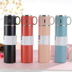 Flacon de café de voyage à double paroi en acier inoxydable et à vide de 580 ml