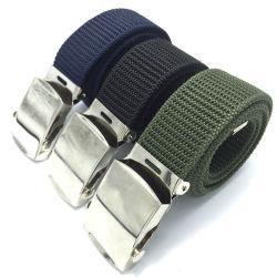 Aleación de militares de la correa de tela tejida tejido el ojal de la correa de la correa en el exterior de la fábrica al por mayor