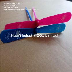 Impresión personalizada de plástico LED de juguete de bambú-helicóptero