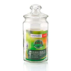 Les épices de yogourt glacé bol en verre de l'huile d'étanchéité de se concentrer et couvercle en verre