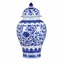 De blauwe en Witte Porselein Verpakte Vazen van het Porselein van Jingdezhen van de Tank van de Opslag van de Tank van Lotus Algemene