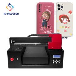 Refinecolor Fabrik-Großverkauf-UVflachbettdrucker für Karte des Telefon-Case/ID/Tintenstrahl-Drucken-Maschine/Plotter-Maschine
