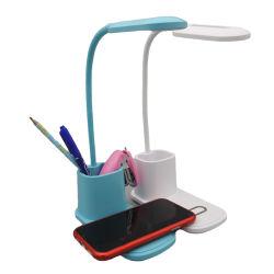 Todos os tipos personalizados do candeeiro de secretária, porta-canetas, telefone celular carregador sem fio de carregamento rápido