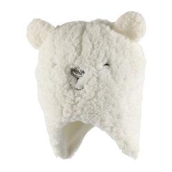 بيضاء [شربا] يغطّي حيوان قبعات مع قطريّة صوف بطانة