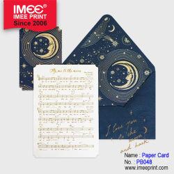 Imee Noche Blanca de gama alta el amor romántico de la Luna Estrella de la tarjeta de felicitación de Año Nuevo Navidad tarjeta de voto de la boda