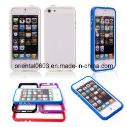 Étui souple bouclier Châssis avec bouton en métal pour iPhone 4 4s 5 5g 5s 5c (OT-15)