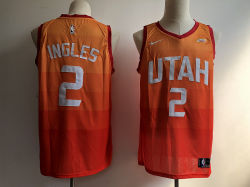 アメリカの男子バスケットボールジャズ都市版2、12、24の45のNb/aの星のフットボールのバスケットボールのジャージ
